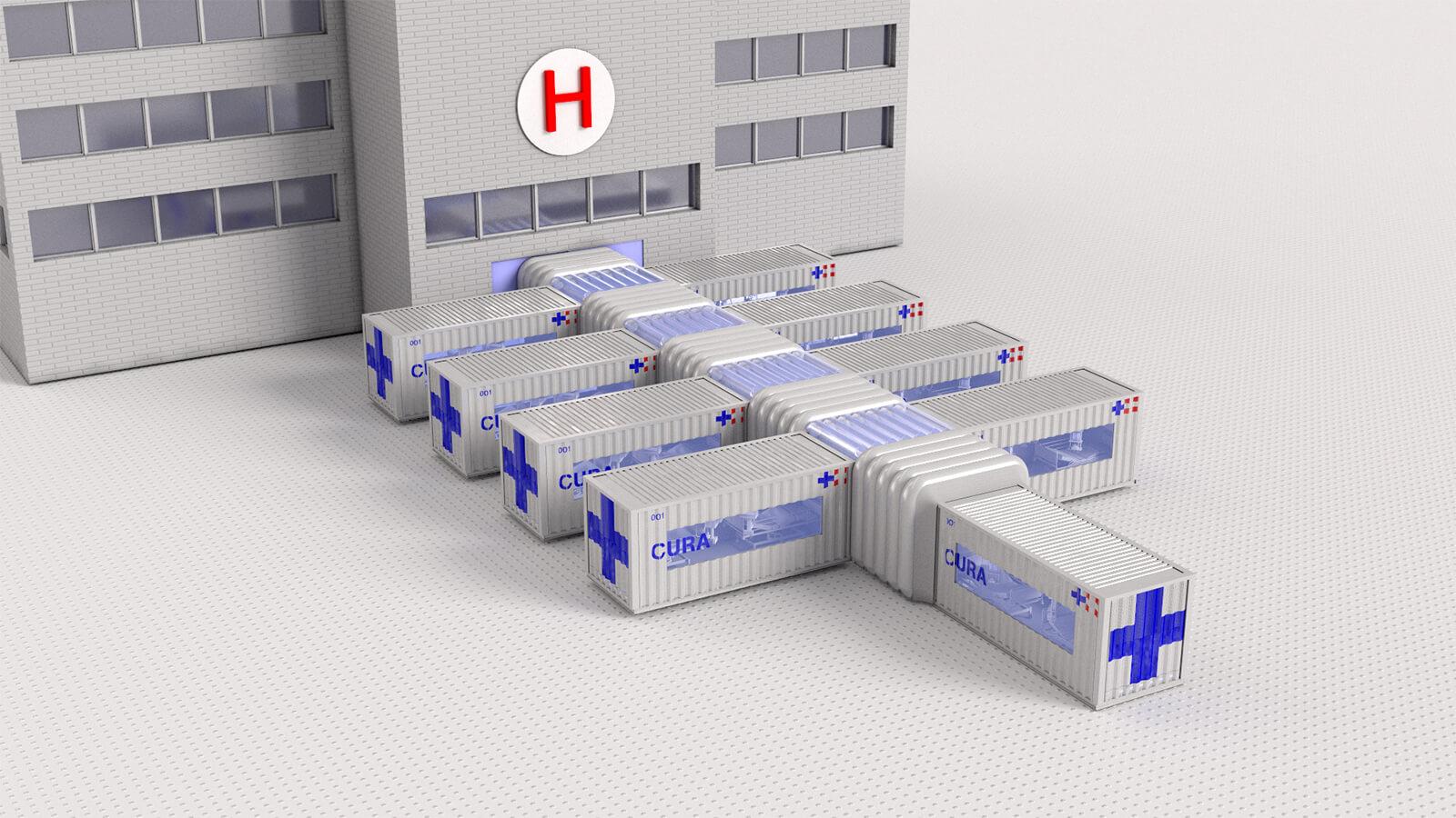 設計容許不同的貨櫃以吹氣通道連接。