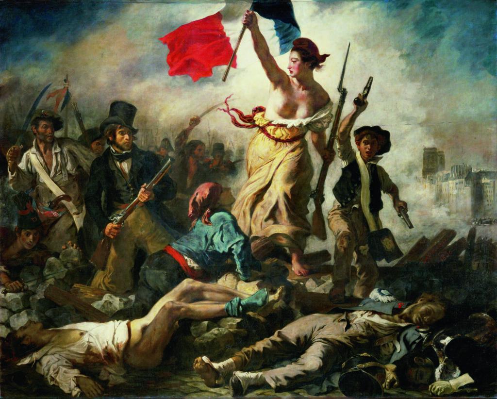 Eugène Delacroix《自由引導人民》(1830)