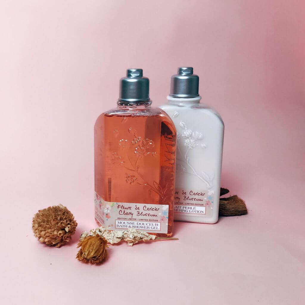 L'OCCITANE Cherry Blossom Body Milk HK$250/ 250ml Cherry Blossom Shower Gel HK$175/ 250ml