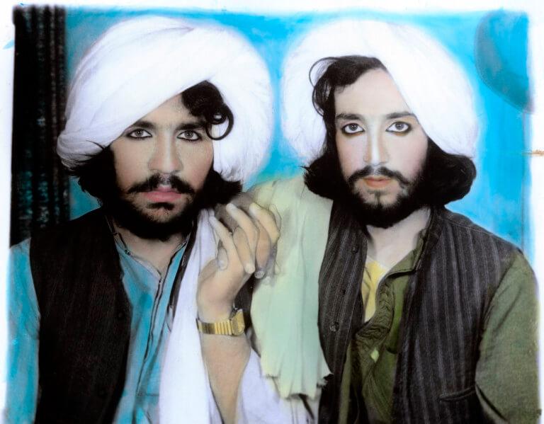 AFGHANISTAN. Kandahar. 2002. Taliban portrait.