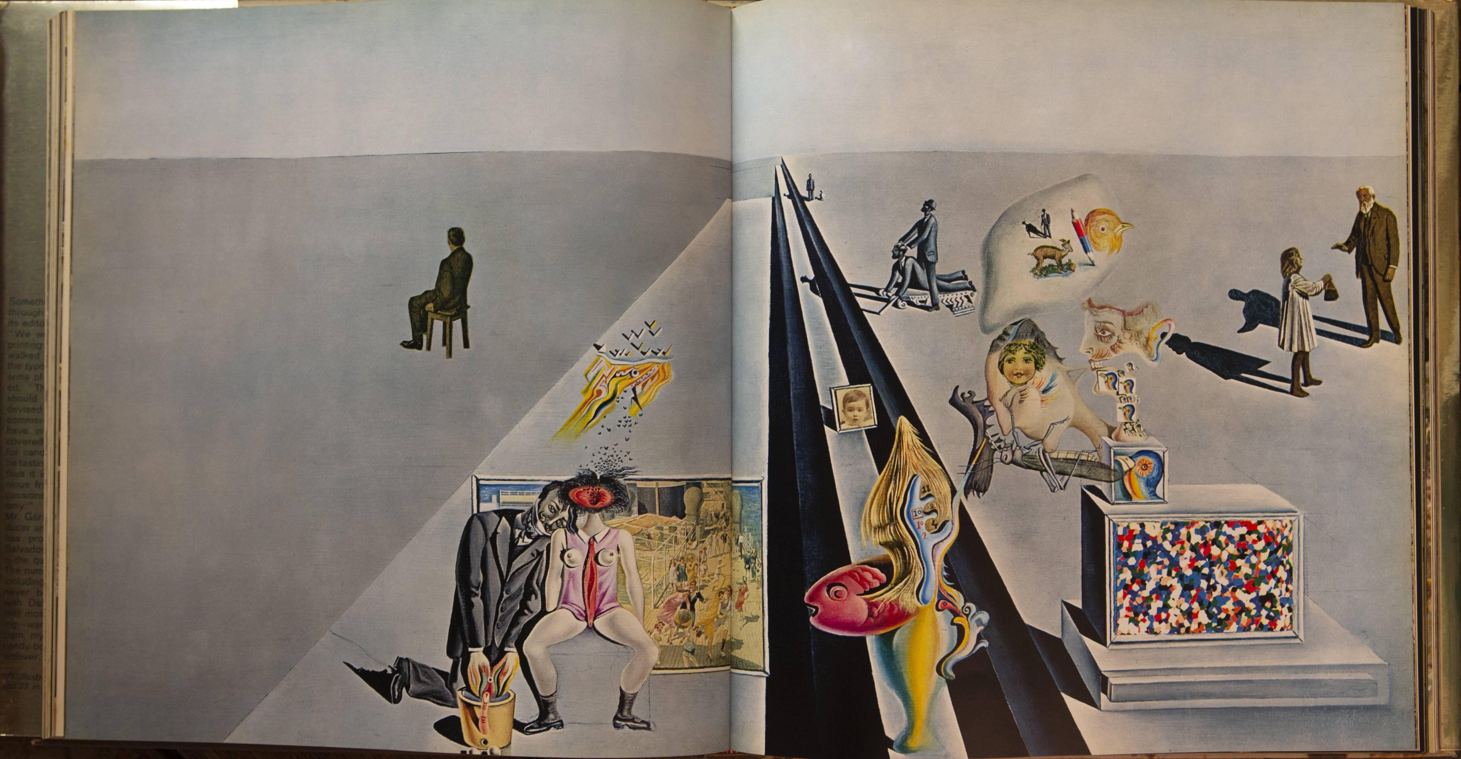 達利的早期作品《The First Days of Spring》(1929),為他邁向超現實主義的初步嘗試。圖為書店有售的達利畫集內頁。
