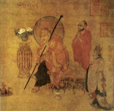 唐代盧楞迦《六尊者像》