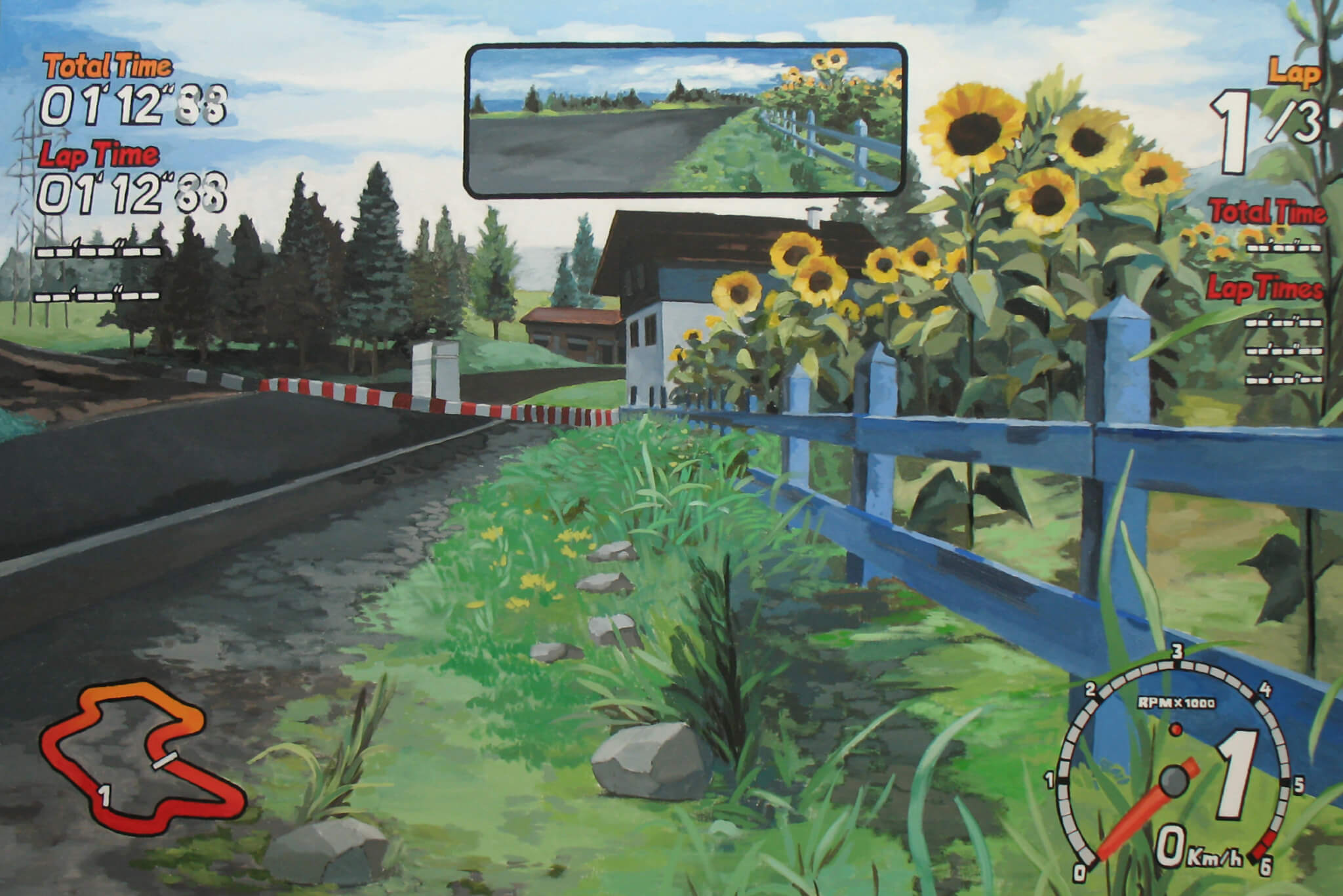 他剛畢業時經常畫電子遊戲內的虛擬風景