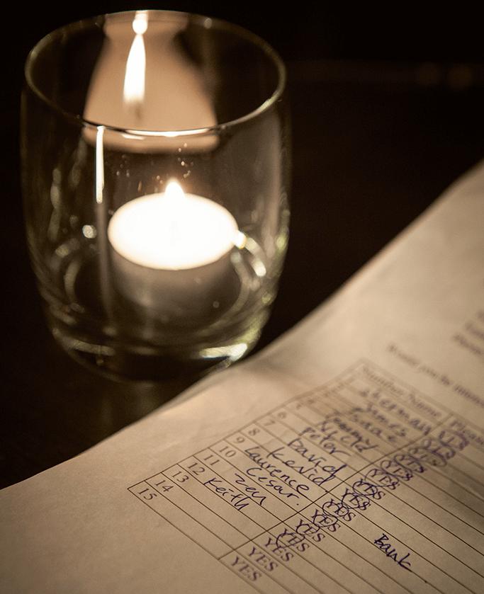 Speed dating活動,雙方填寫意願的表格。