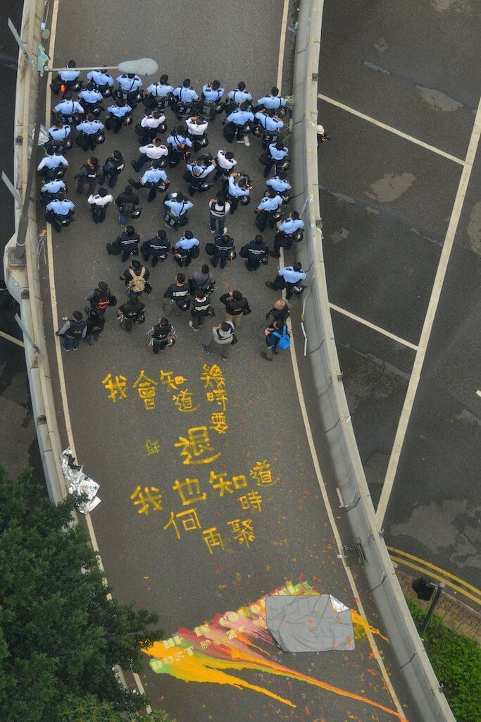 二〇一四年雨傘運動,余慧明曾擔任義務急救員。(來源:明報資料室)