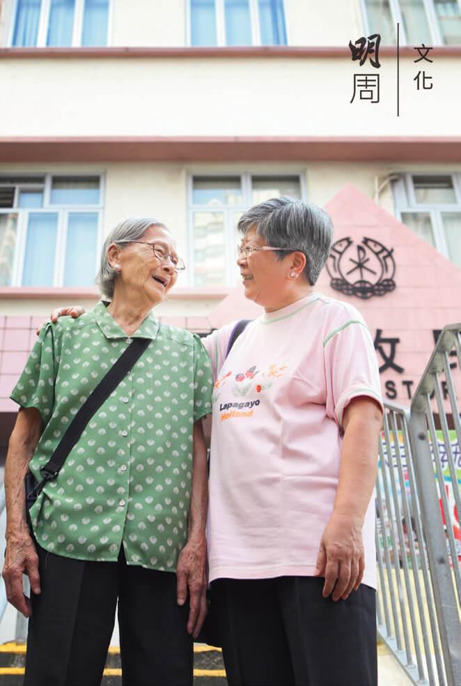 李國貞和媽媽楊惠卿見證西灣河變遷,始終最喜歡這一區。
