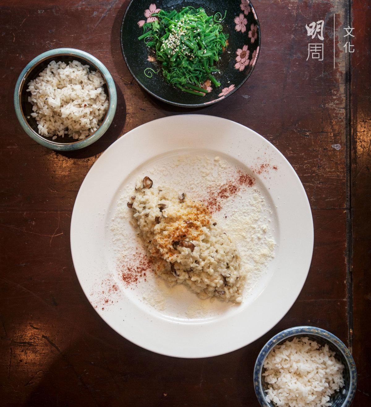 意大利燉飯、白米飯、烤飯,一餐家宴呈現三種飯,這才是主要菜式。