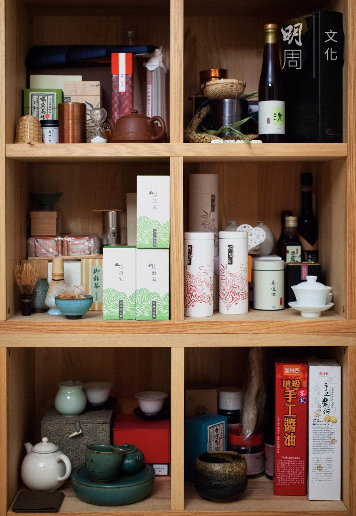 顧瑋工作室收集了 台灣本土各類農產加工 品
