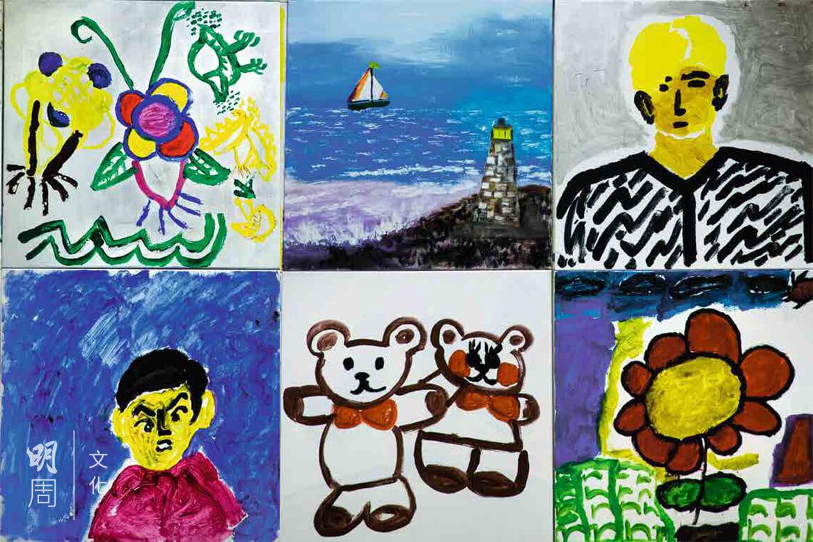 青山醫院內,院友留下的作品,抒發他們的內心世界。