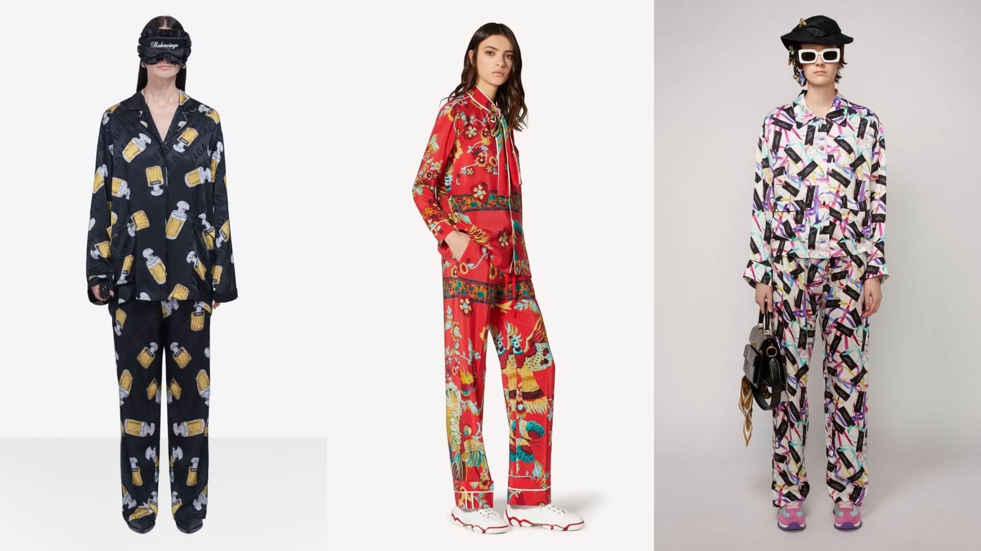 左起:Balenciaga(top $13,450;pants $10,400)、Valentino(top $8,500;pants $7,600)、Marc Jacobs(top $4,090;pants $4,090)