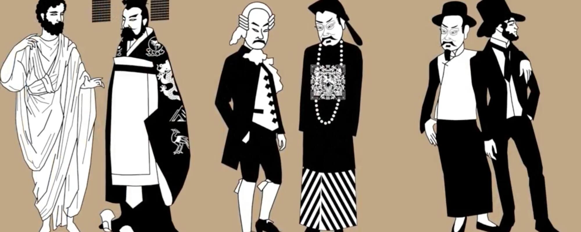 各個年代的男裝,呈現各個年代的文化和美學。