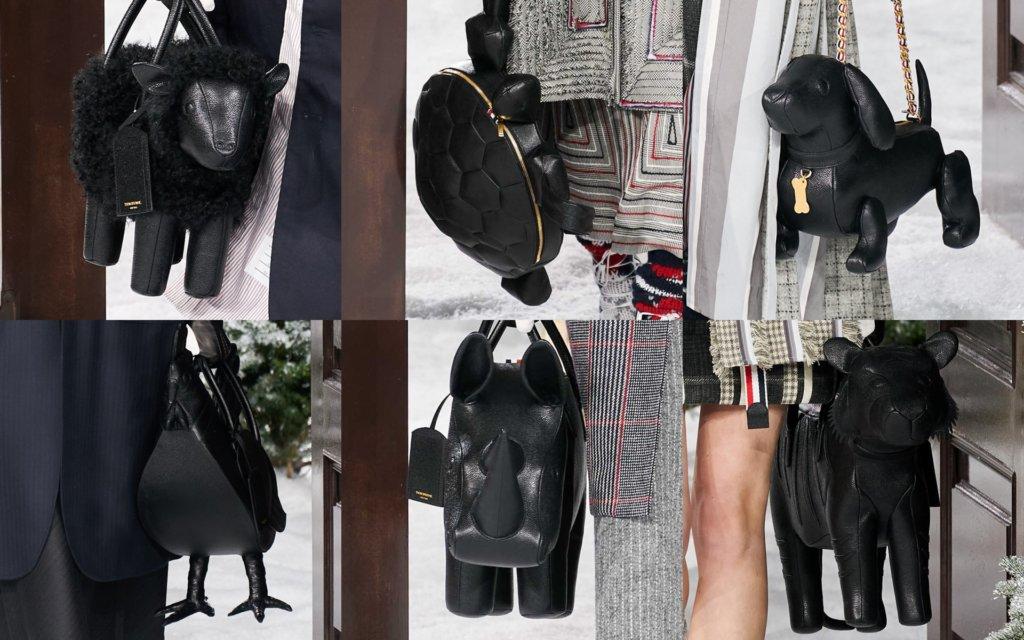 二〇二〇年Thom Brwone的秋冬時裝騷上,出現不少動物造型的手袋,全是Hector Bag 的延伸設計。