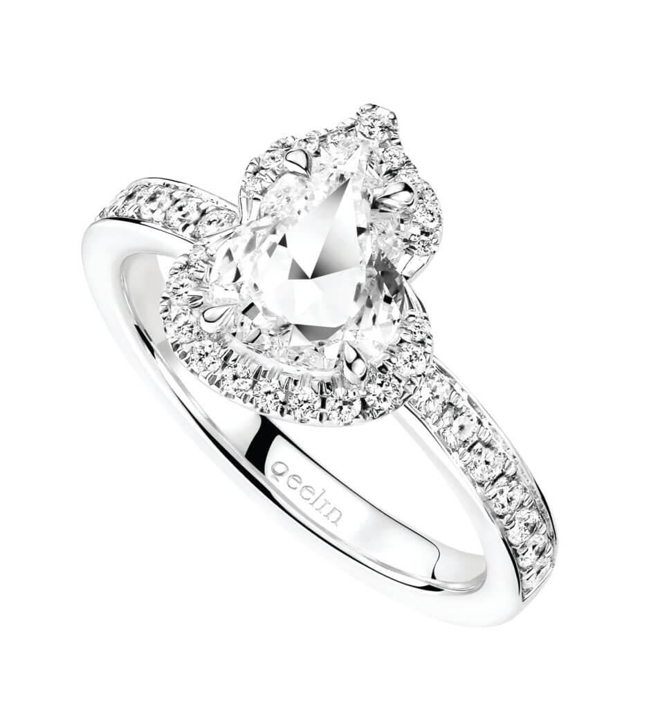 Wulu Solitaire 18K 白金鑽石戒指 $110,000起