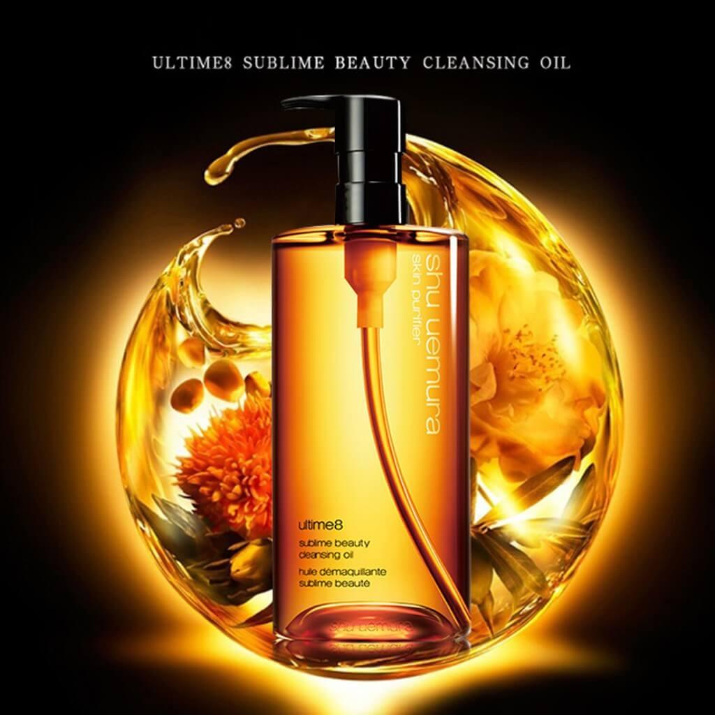 shu uemura Ultime8∞ Sublime Beauty Cleansing Oil HK$360/150ml,HK$860/450ml