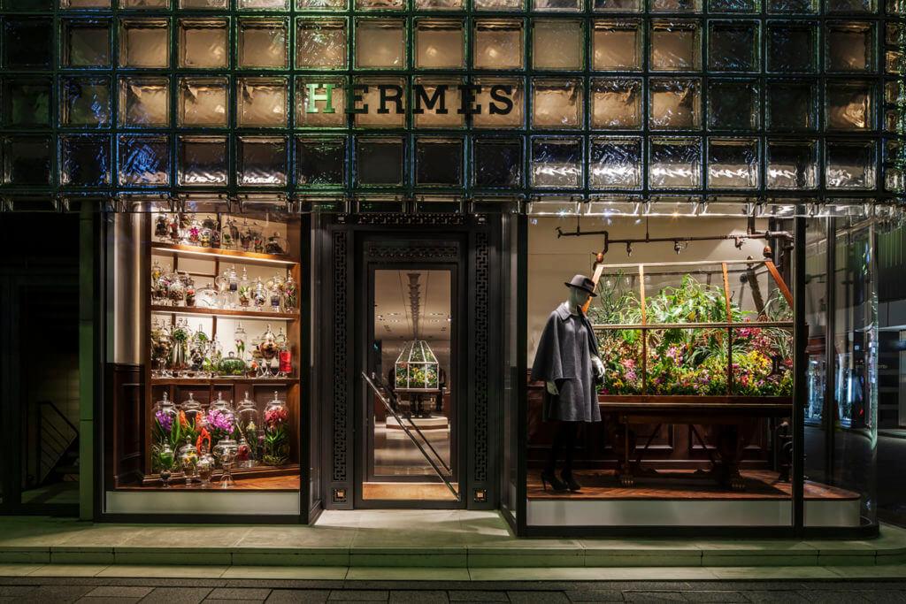 二〇一二年,東京Hermès化身夢幻溫室。