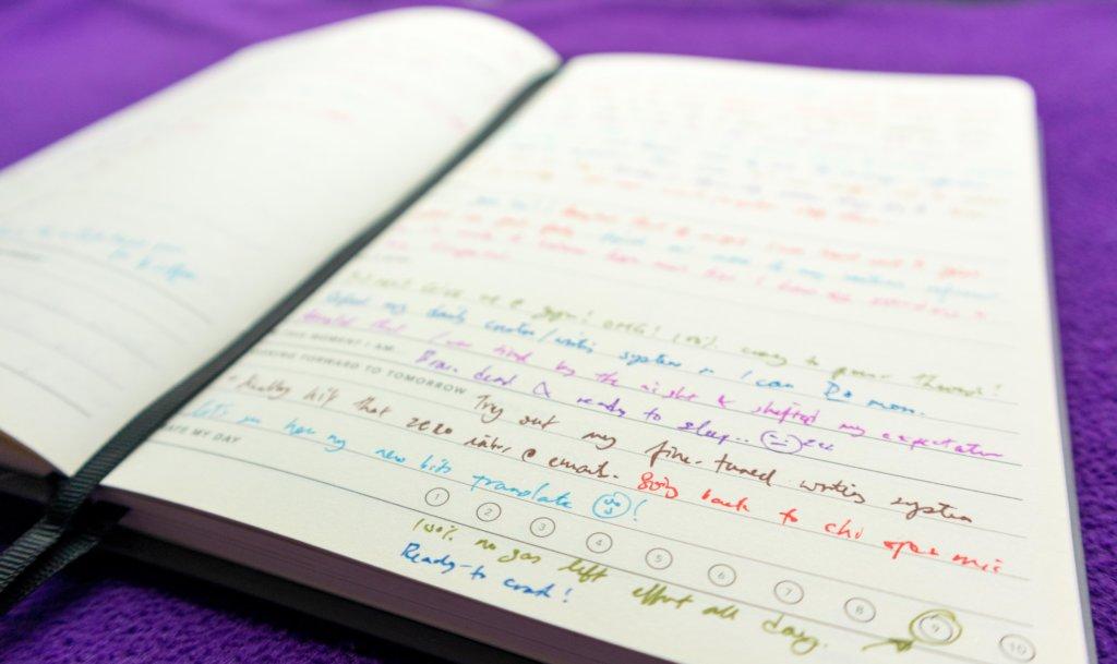 每天寫日誌自我檢討,期望明天做得更好。