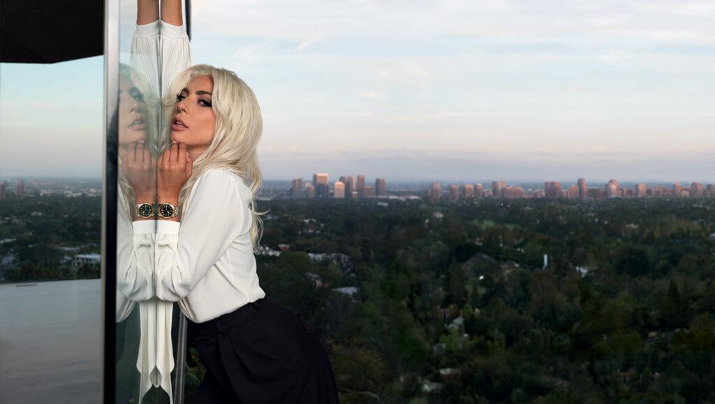 Tudor代言人Lady Gaga配戴的正是Black Bay 36 S&G腕錶。