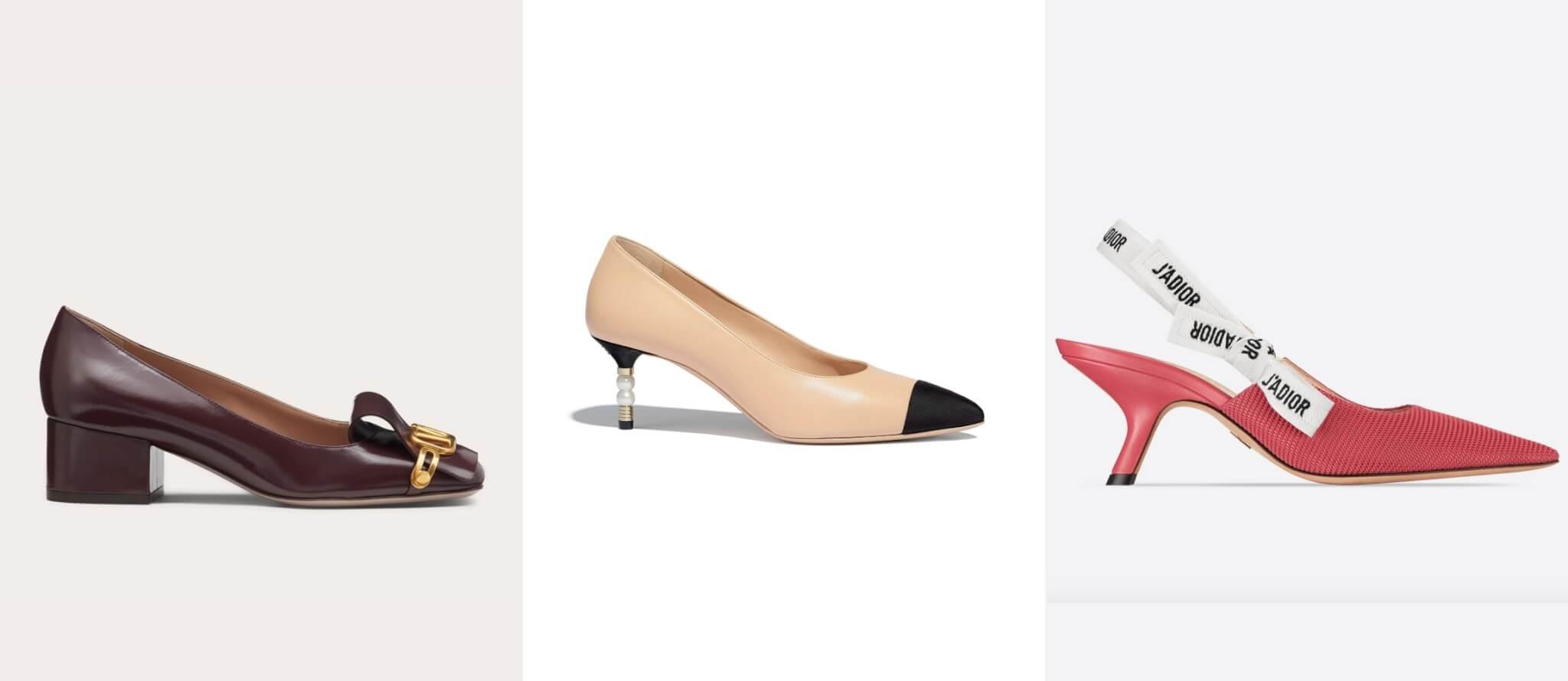 左起: Valentino、Chanel、Dior