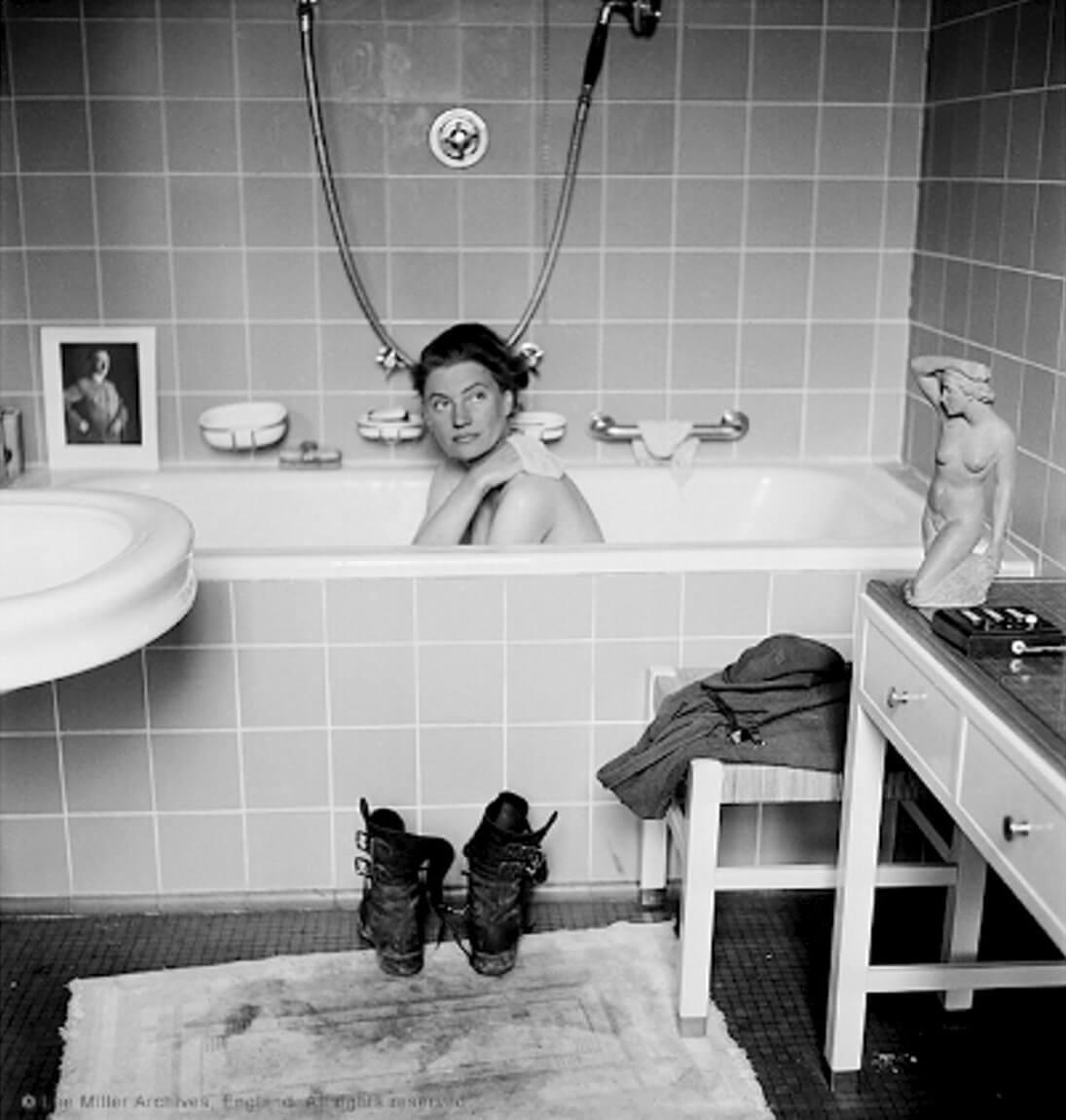 戰地攝影師Lee Miller在希特拉家中拍攝的照片。