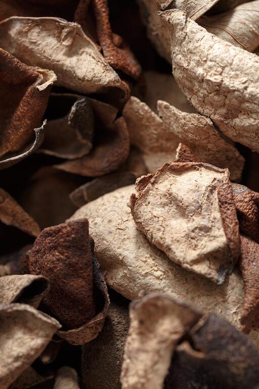 材料上用上果皮,以帶起香味和回甘。