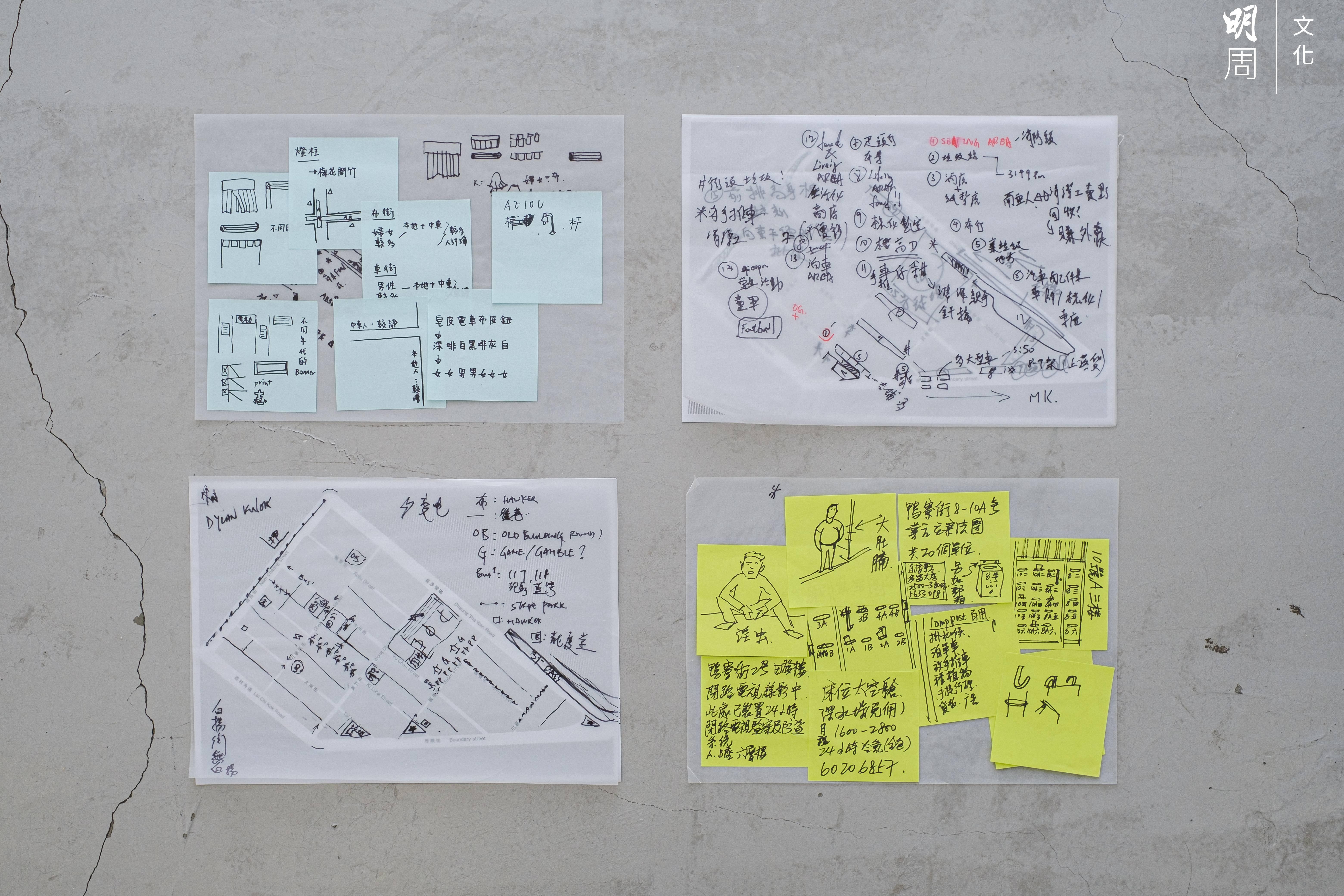 #City設計活動參加者游走深水埗街區後做的筆記