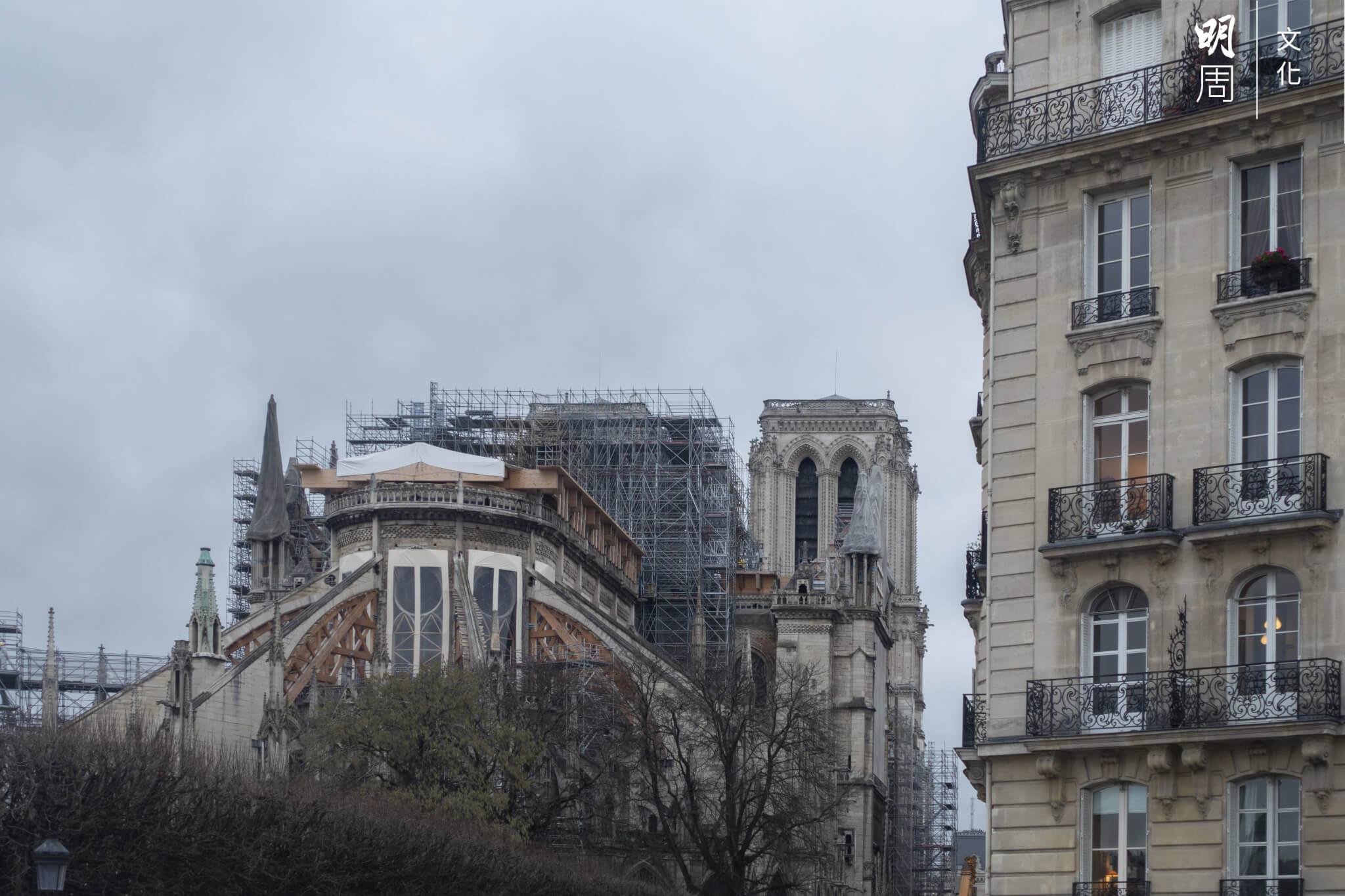今年一月的聖母院外觀。 (攝影:劉玉梅)
