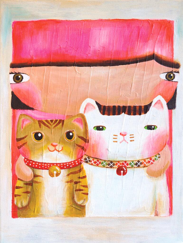 兩貓似乎沒有親暱的合照照片。