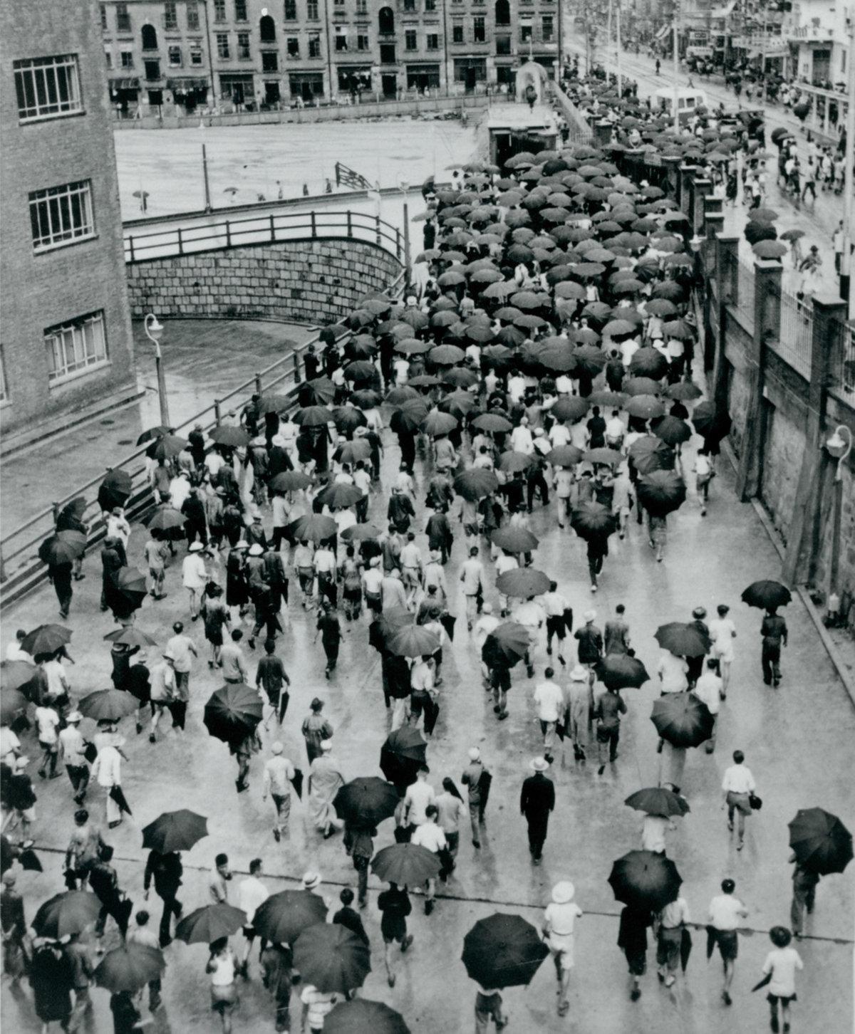 太古船塢,數千名員工一起上下班的場面非常壯觀。(圖片由太古地產提供)