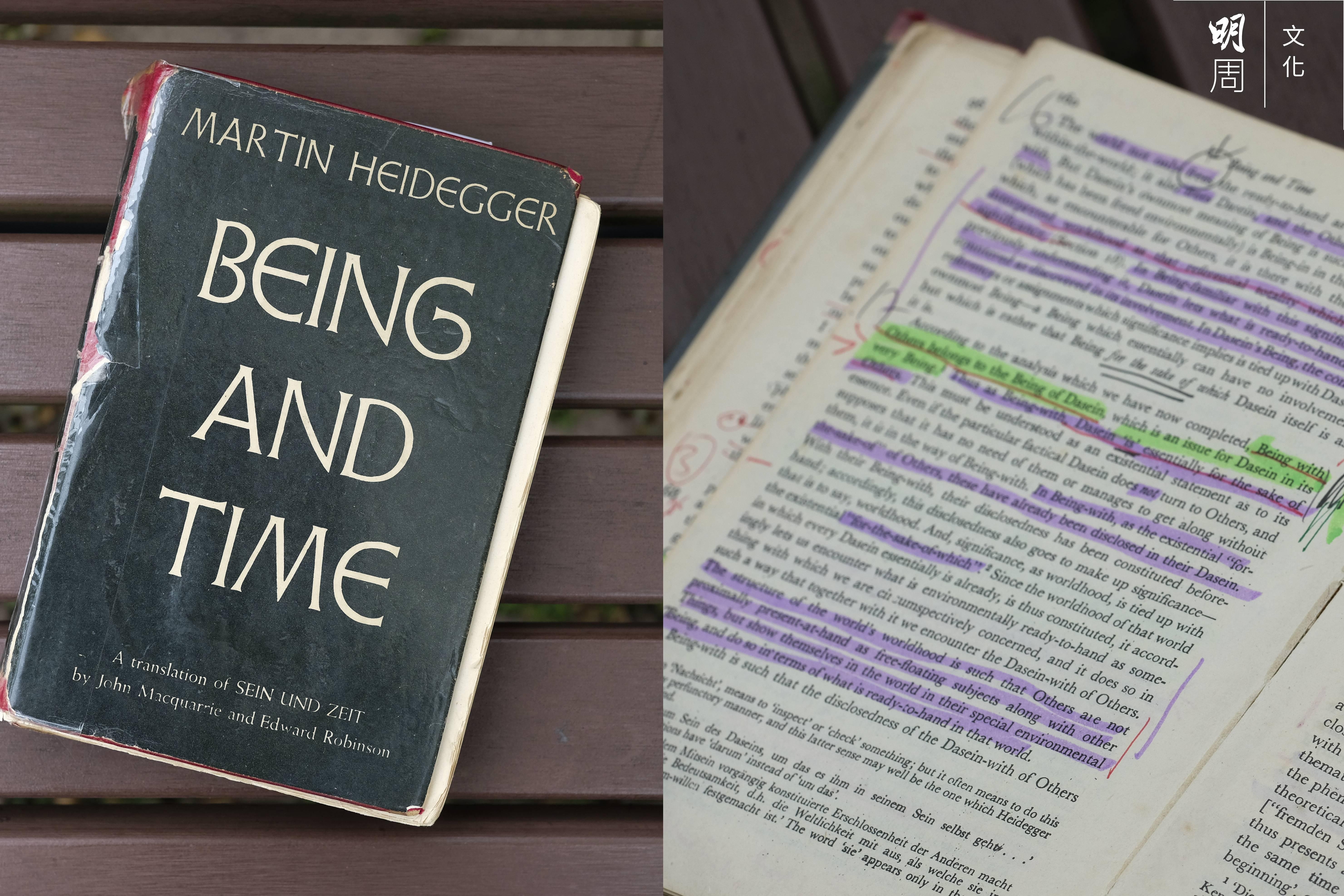 德國哲學家海德格的《存在與時間》對張燦輝思想發展影響尤深,他翻讀此書無數次,每頁都做了大量筆記,用螢光筆做標註。