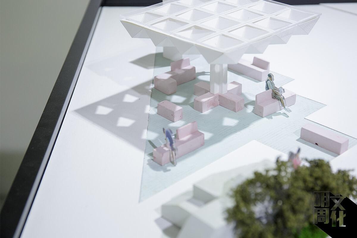 半透光的涼亭設計防曝曬,庭位的設計也更加靈活多元。