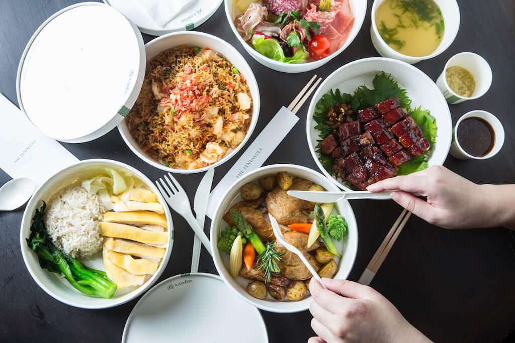 半島酒店內的餐廳均有推出外賣餐牌,包括嘉麟樓、大堂茶座、Chesa。方便客人一次過嘗到中、西茶式。