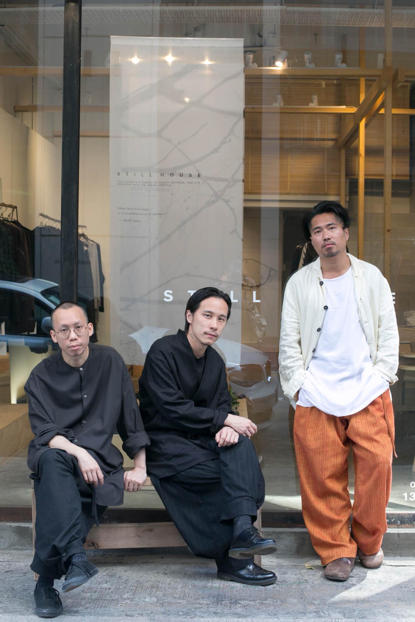 左起:Still House創辦人苗、藝術總監Jae、設計師Terry
