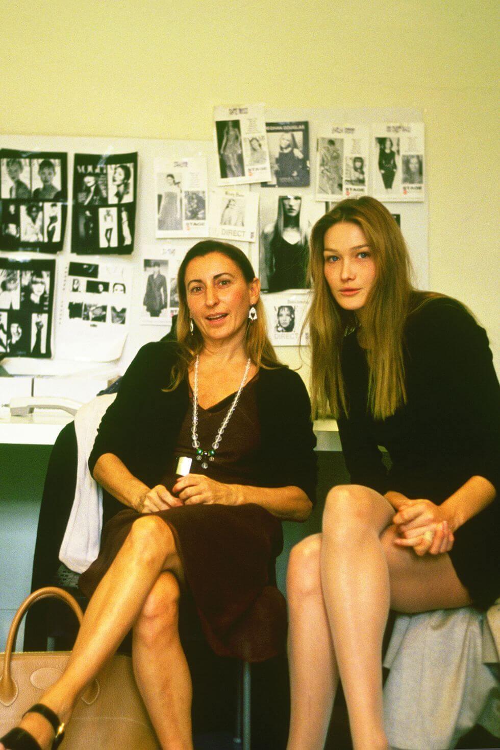 Miuccia Prada與前法國第一夫人Carla Bruni
