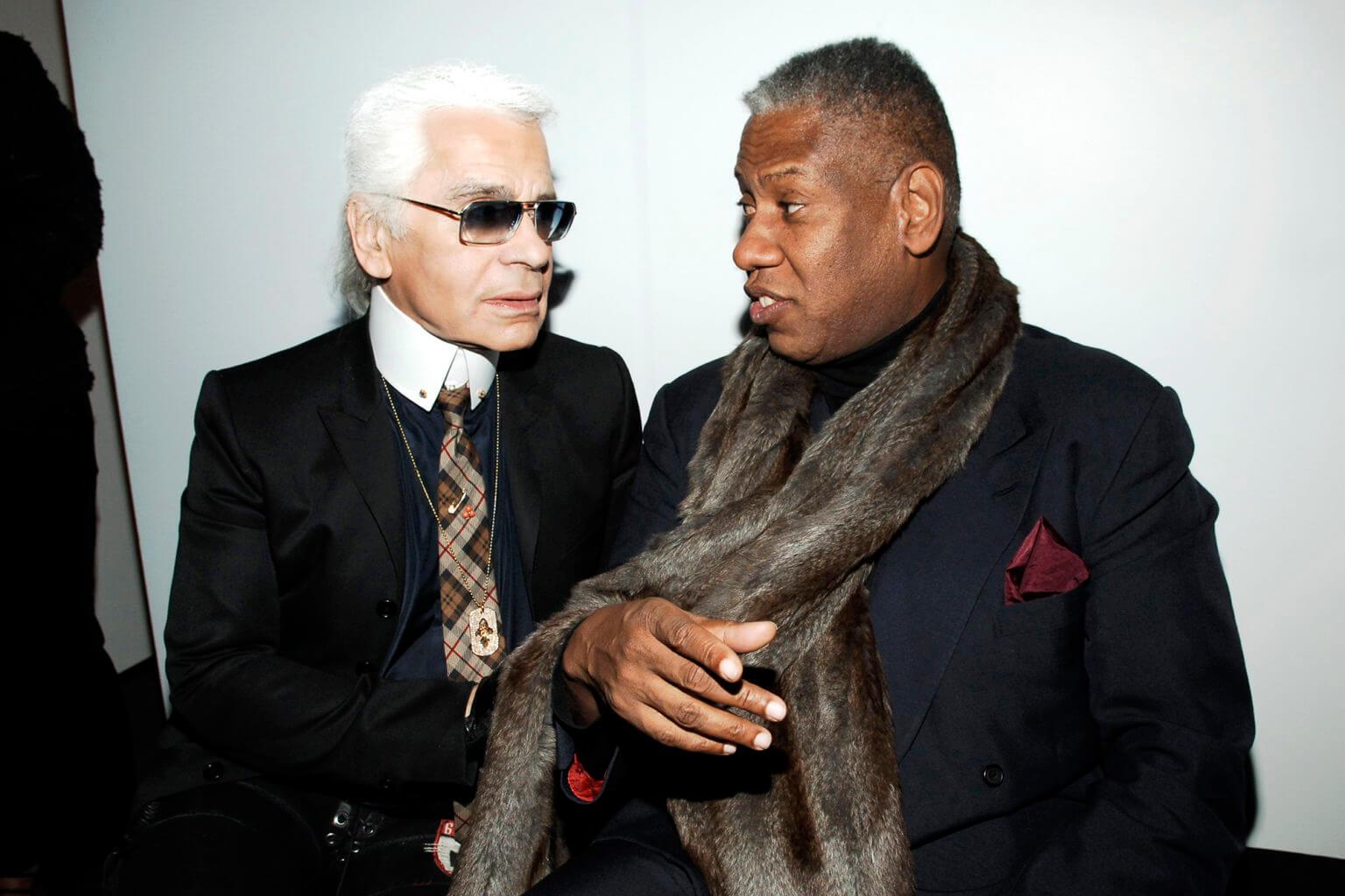 André Leon Talley與已故Karl Lagerfeld曾是摯友。