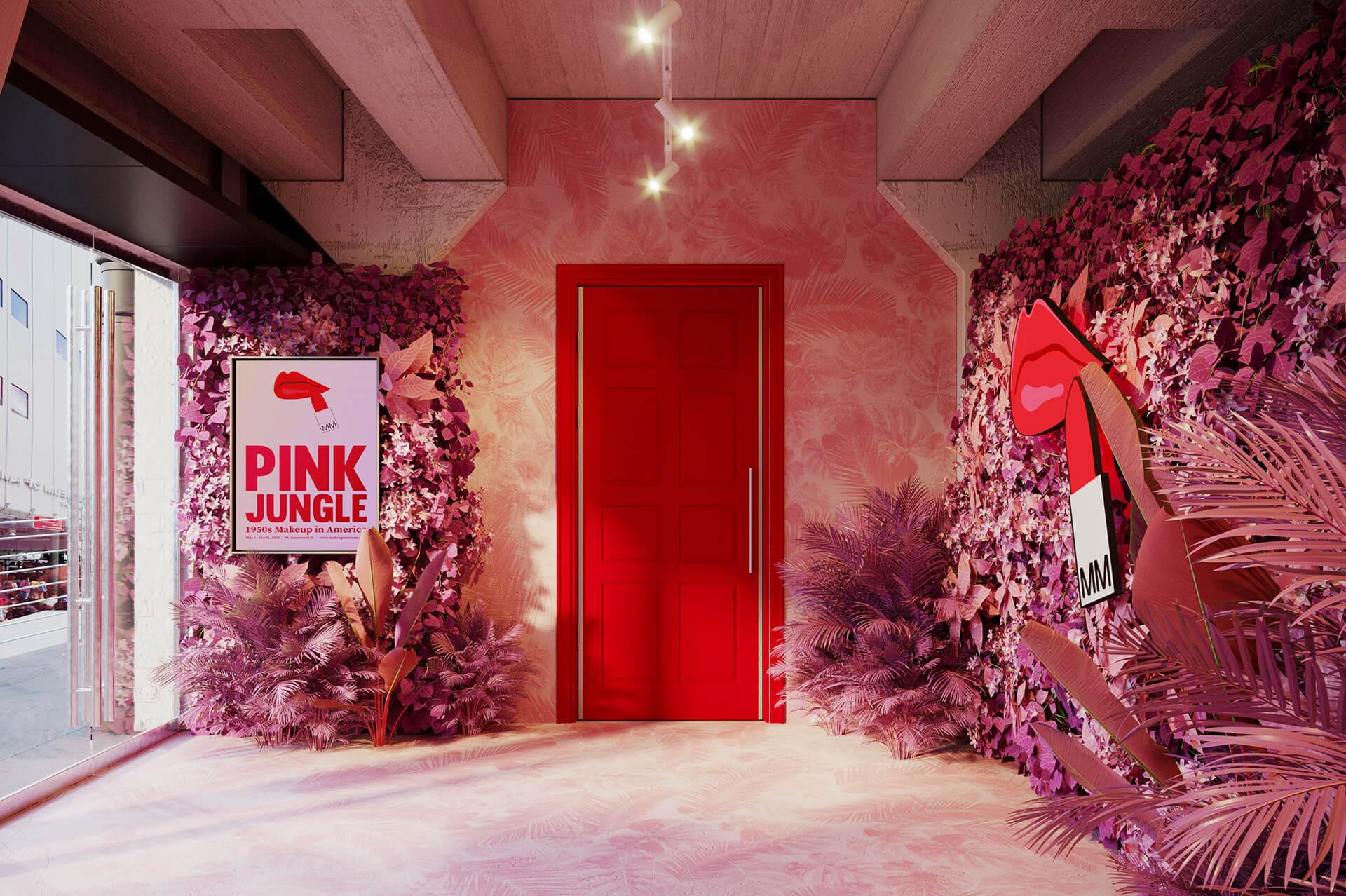 博物館原定於本月的首個展覽為《Pink Jungle: 1950s Makeup in America》