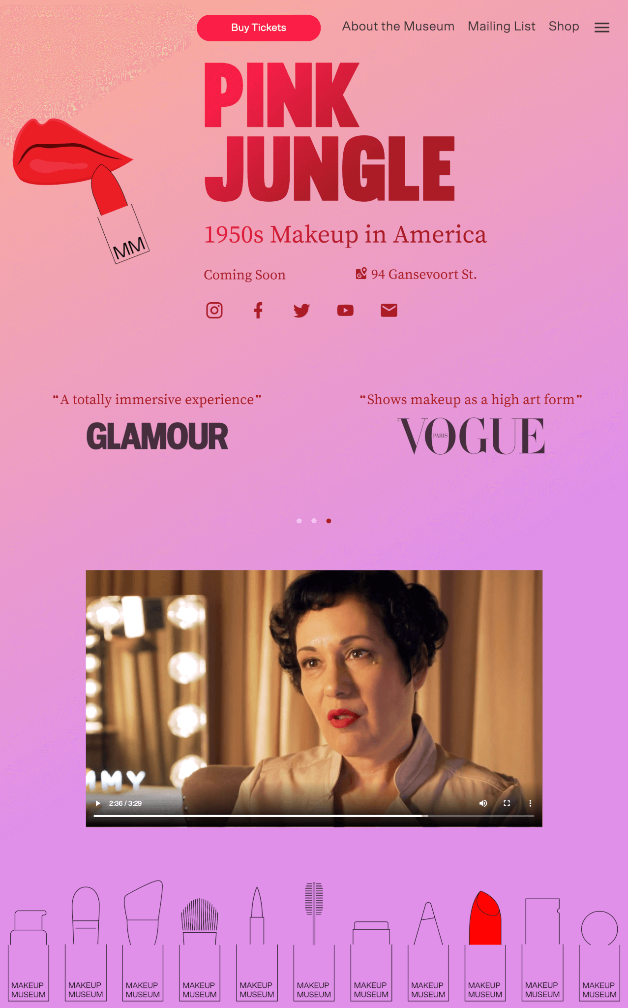 Makeup Museum的官方網站