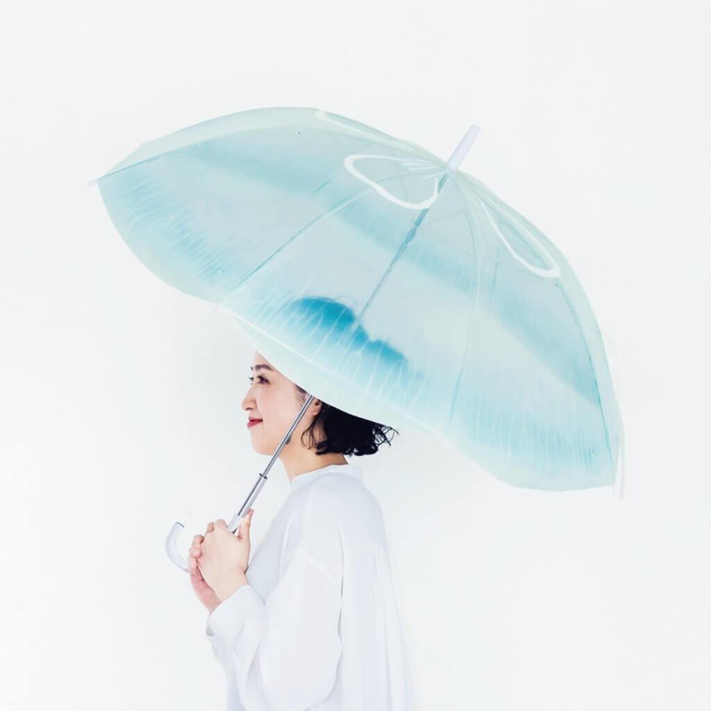 海月水母傘的淡藍漸層,浪漫不已