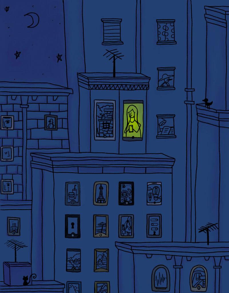 《從前萬家燈火,現在萬家熒光》,施玲玲