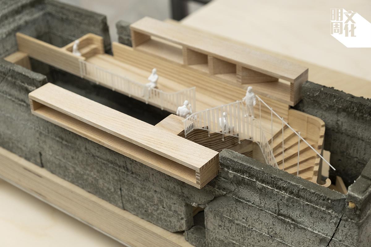現在舉行的「IN/SITU」展覽中展示出正在興建中的Living Museum模式