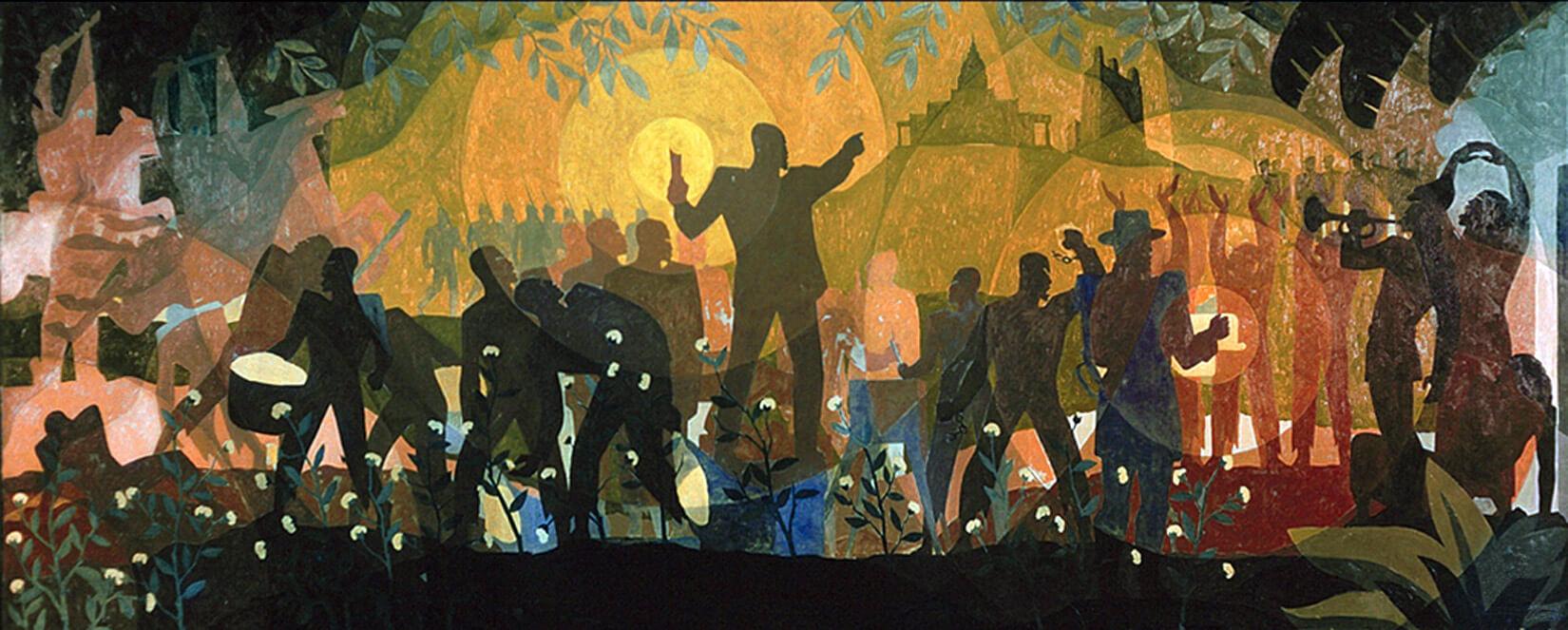 Douglas的代表作、壁畫系列《Aspects of Negro Life》,於1934年完成。