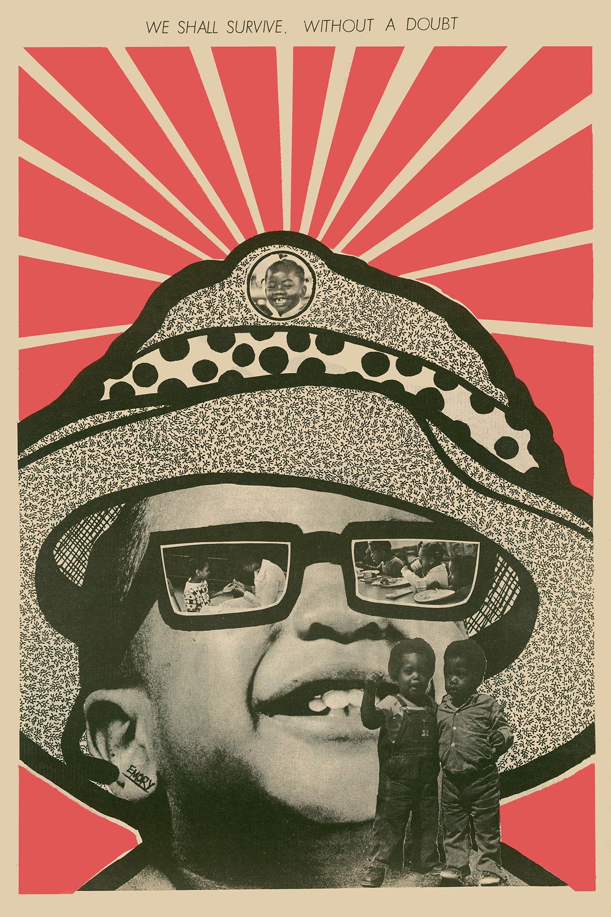 70年代作品宣傳黑豹黨的免費兒童早餐活動