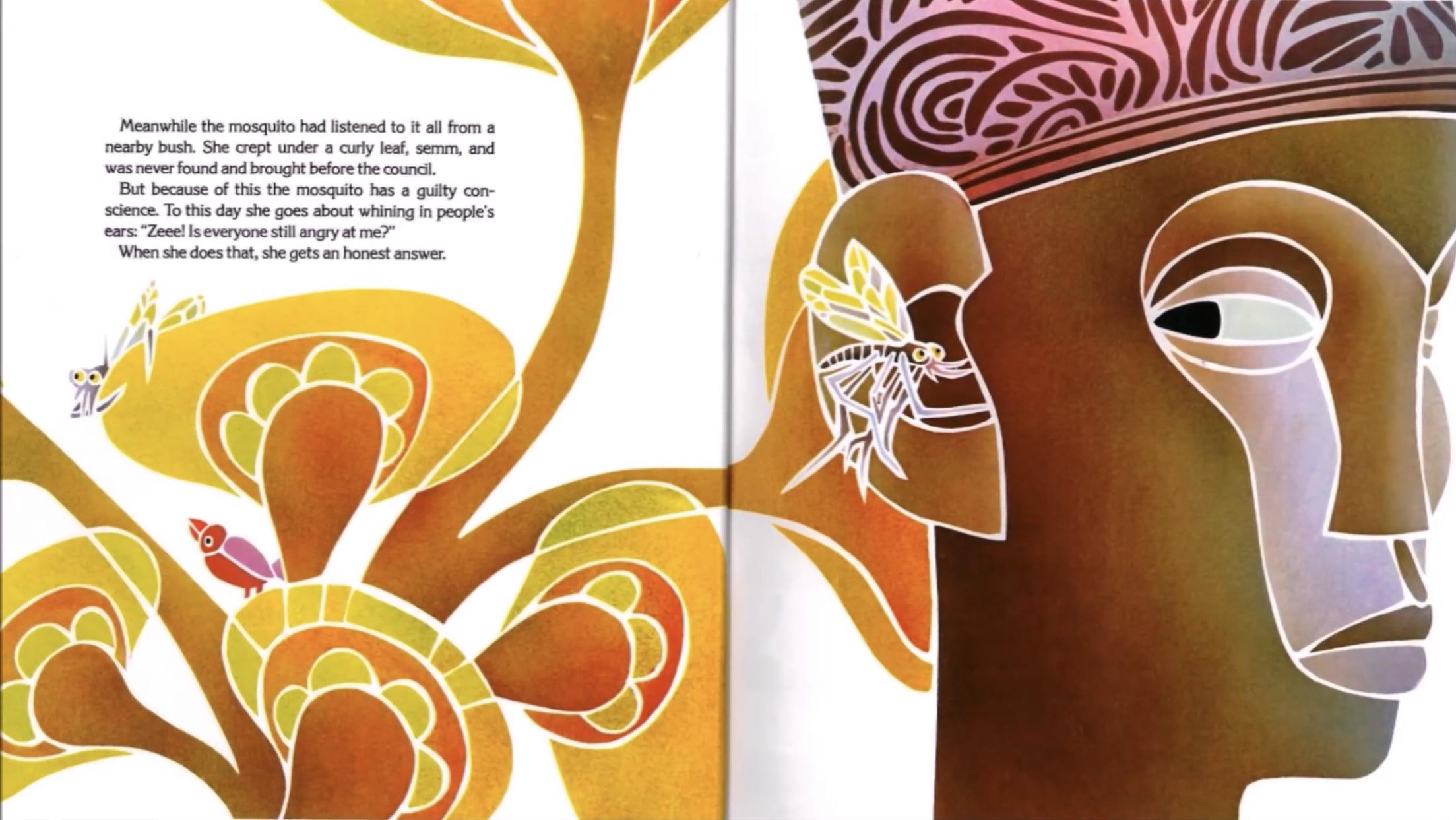 兒童書籍《Why Mosquitoes Buzz in People's Ears: A West African Tale 》一書中,二人以插畫描繪西非的民間故事。