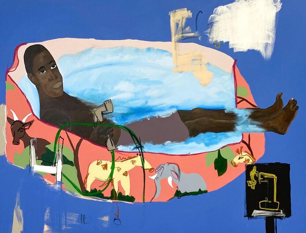 Jammie Holmes擅長把黑人生活與情感轉化獨特意象。他曾表示要為邊緣社群發聲。