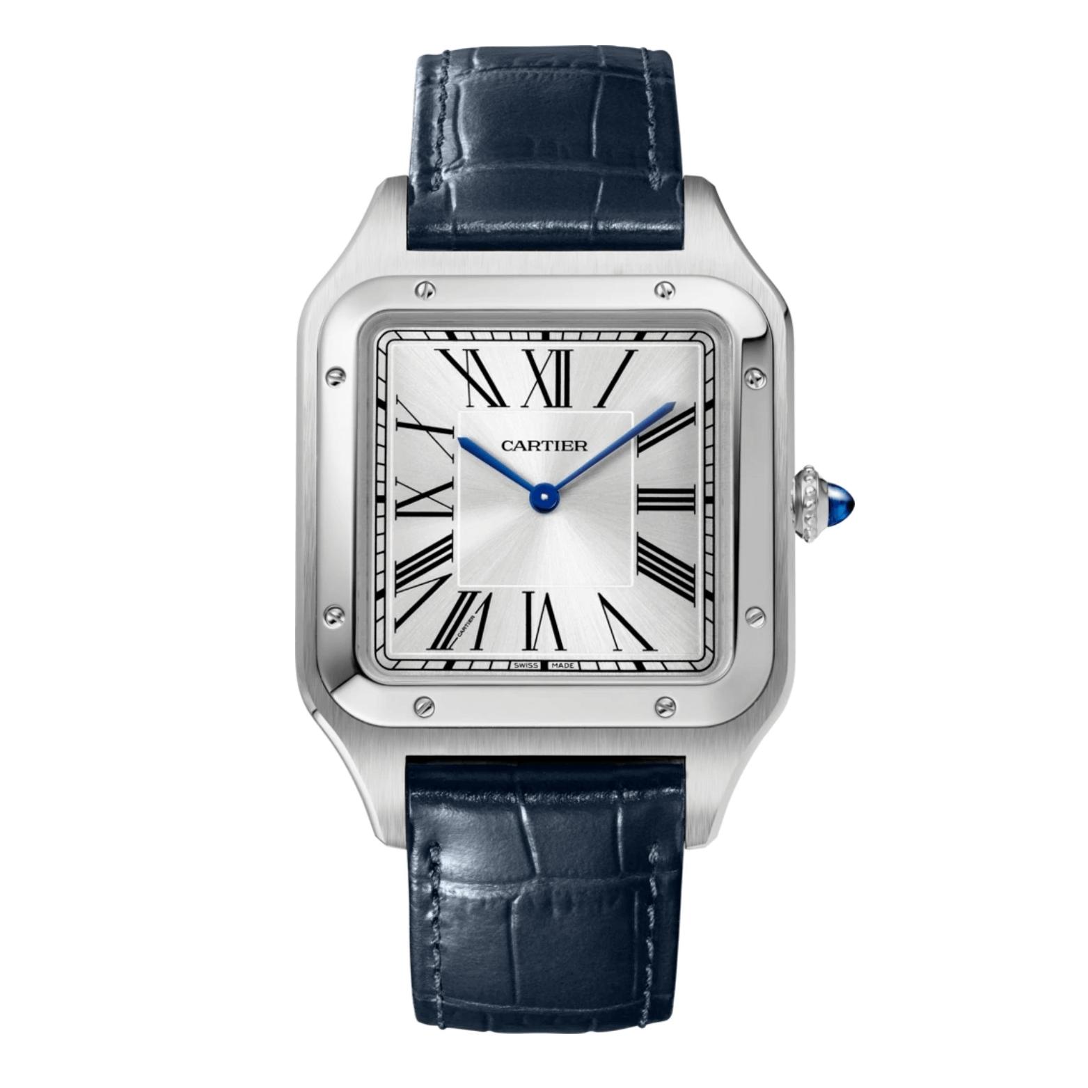 SANTOS-DUMONT特大精鋼腕錶($44,100, Cartier)