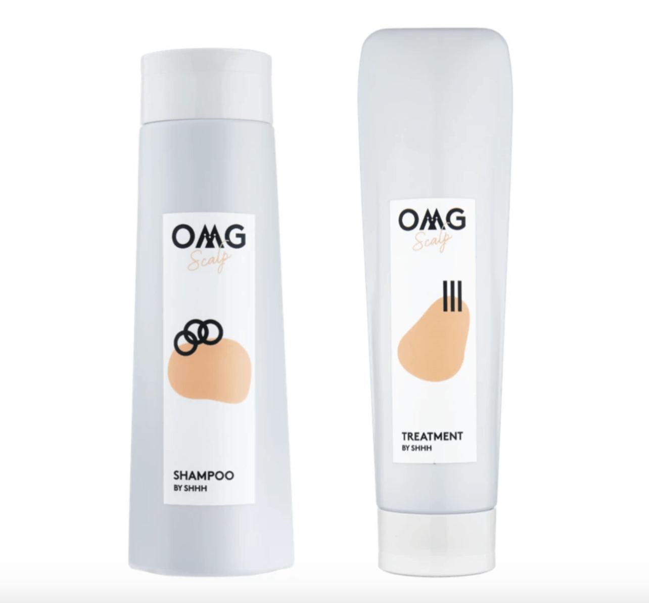 OMG Scalp Set HK$810 洗頭時可以塗抹專為頭皮護理而設的髮膜,然後輕輕從髮線開始沿着後頸按壓,促進頭部微循環,同時幫助頭皮吸收養份。
