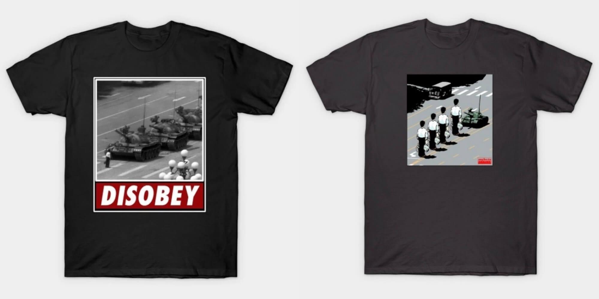國外設計師以「坦克人」為靈感的T恤創作