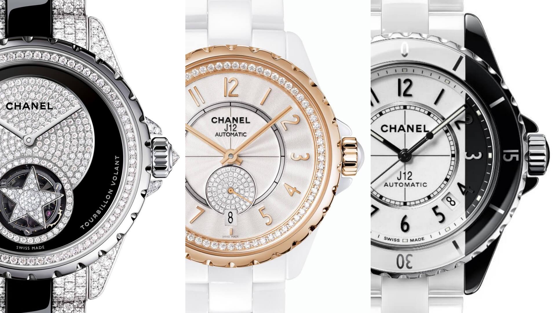 J12腕錶歷經多年演變,在「元祖」黑白款式之外仍有不少嶄新設計。