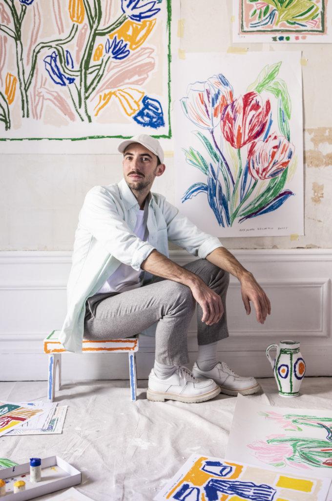 Van Cleef & Arpels邀請新銳畫家Alexandre Benjamin Navet參與櫥窗設計