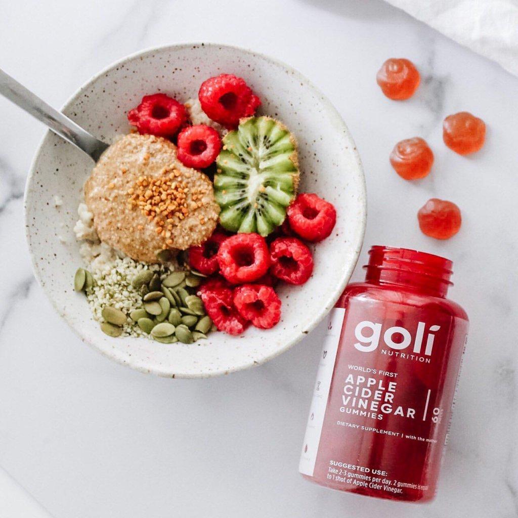 GOLI蘋果醋軟糖$220 軟糖不含麩質、明膠、人造甜味劑和防腐劑,蘊含抗氧化成份、纖維及維他命C,可以保持和保持心臟健康,幫助消化。
