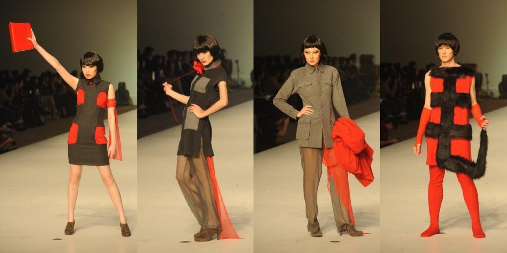 十年前的「時裝世界精英大獎」,其中一名參賽者以毛澤東和文化大革命作為靈感,設計了一系列四套服裝。